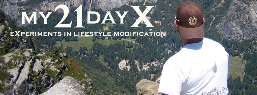My21DayX – Experiments in Lifestyle Modification